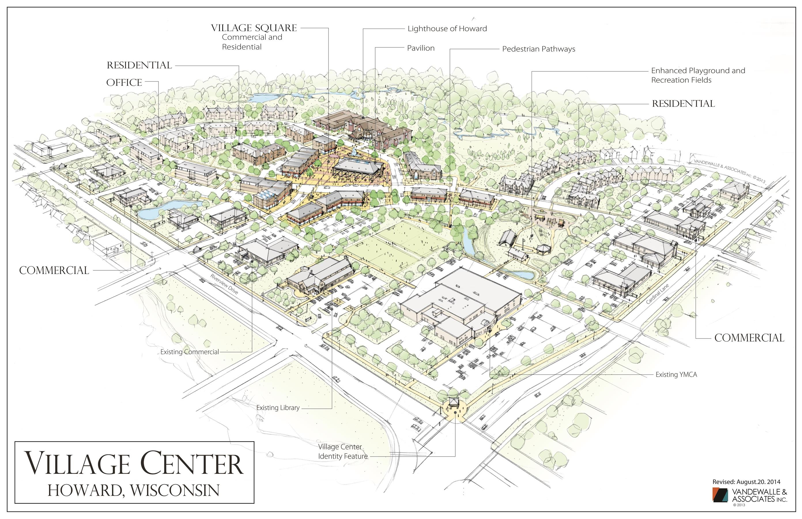 Village Center Concept FINAL Draft of New Concept with Labels (8.20.14)